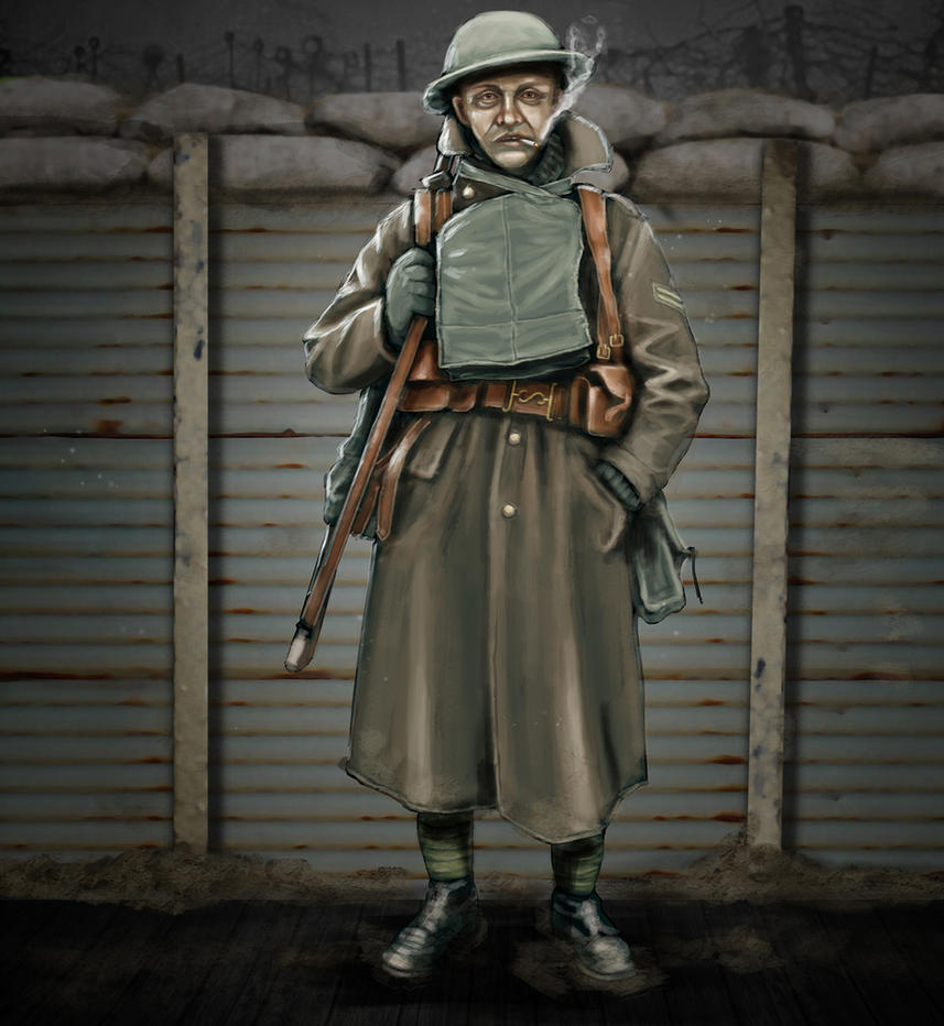 British infantry WW1 by timcatherall
