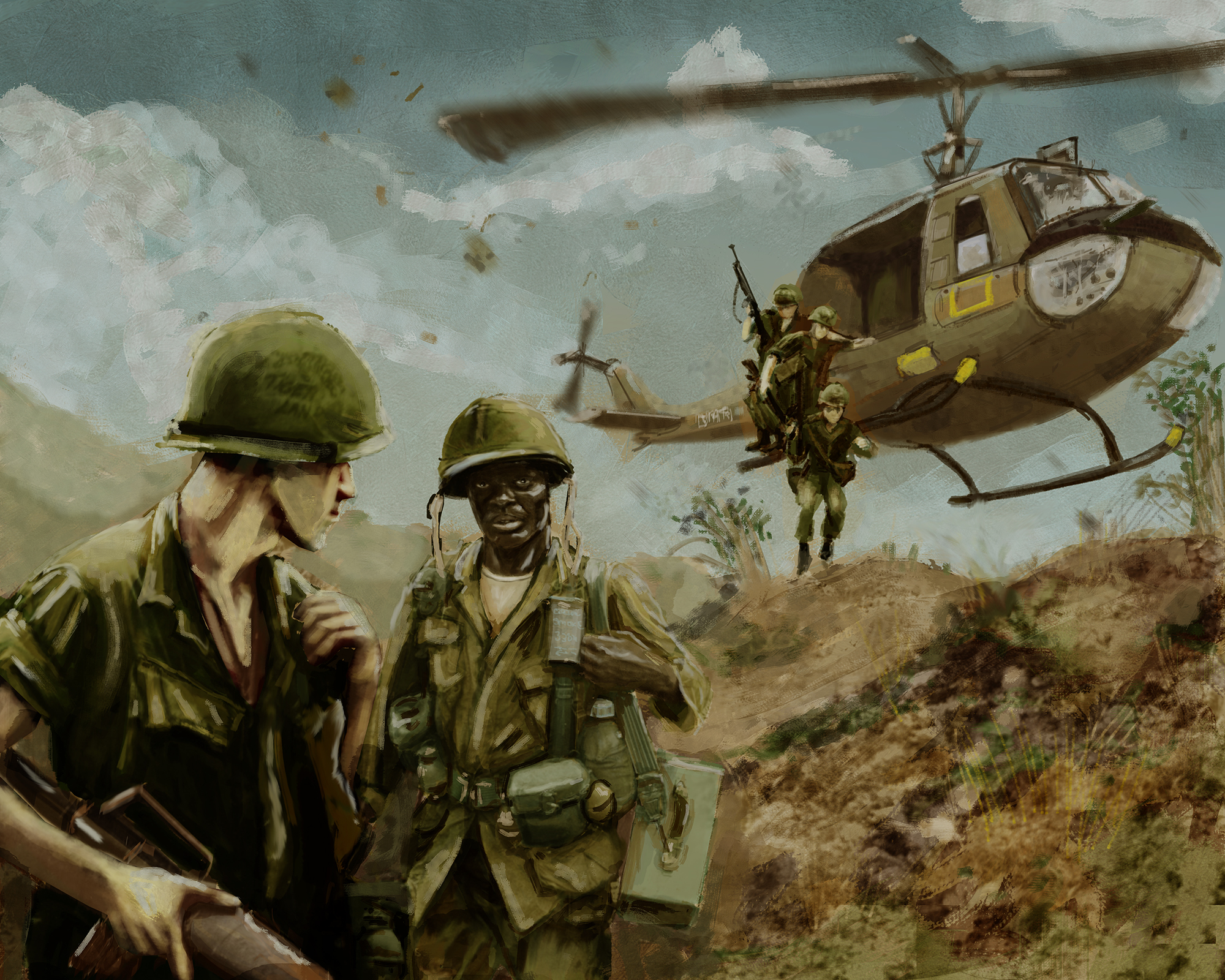 Vietnam War Helicopter Drop By Timcatherall On Deviantart