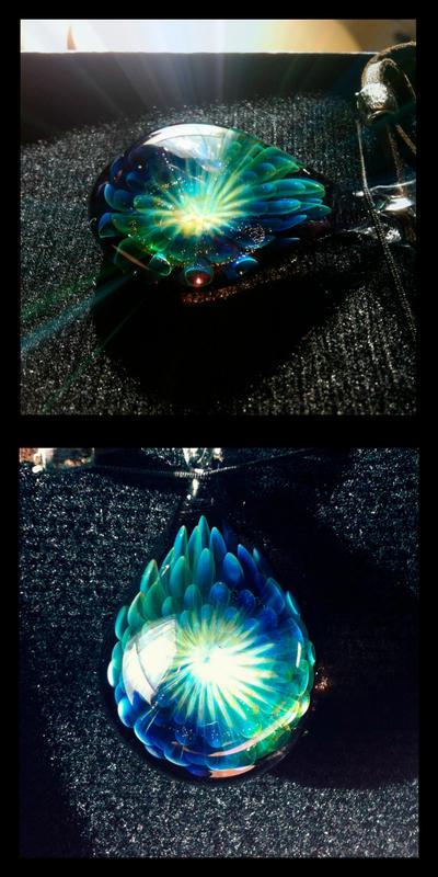 Chrysanthemum pendant by jyoujo
