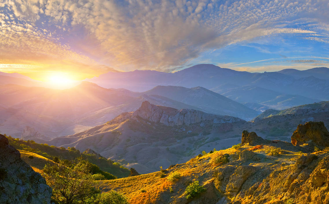 Beautiful Mountain Sunrise Wallpaper HD 4k