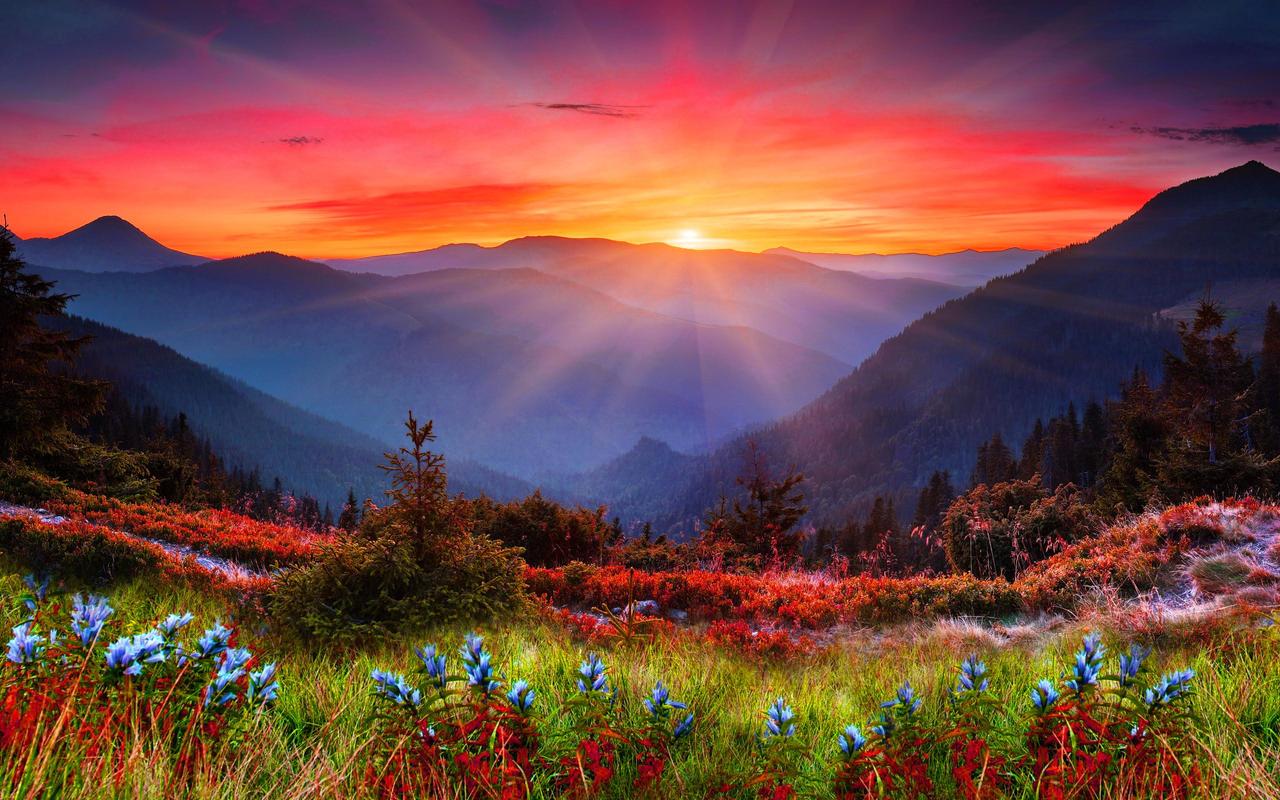 Beautiful Mountain Sunrise Wallpaper HD 4k by SahibDM on DeviantArt
