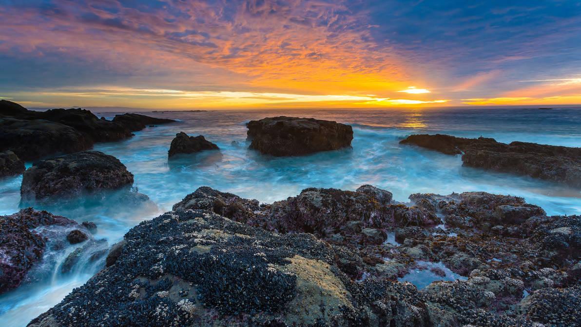 Ocean Sunset Beach Wallpaper HD 4k