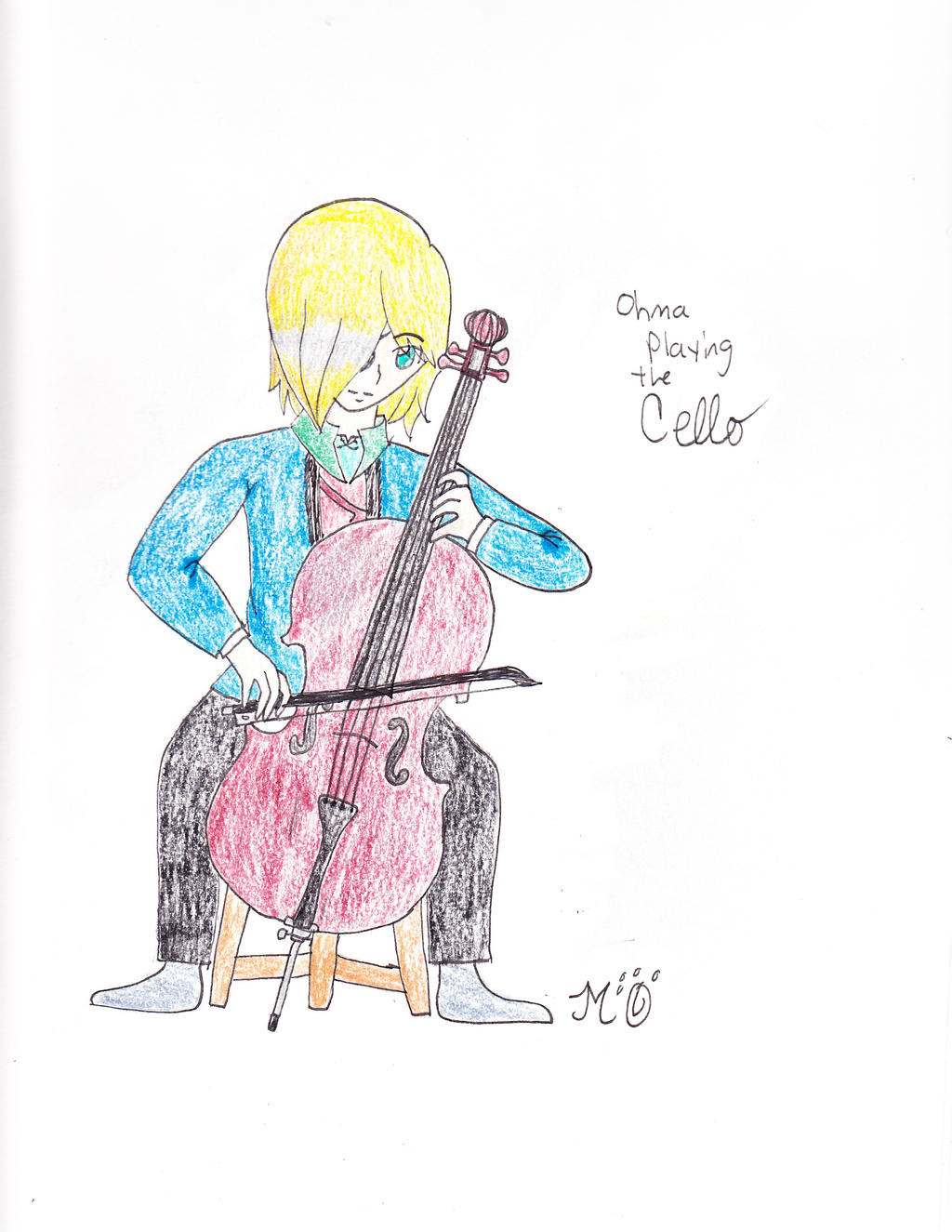 Ohma playing cello. by EmpatheticMortalAnge