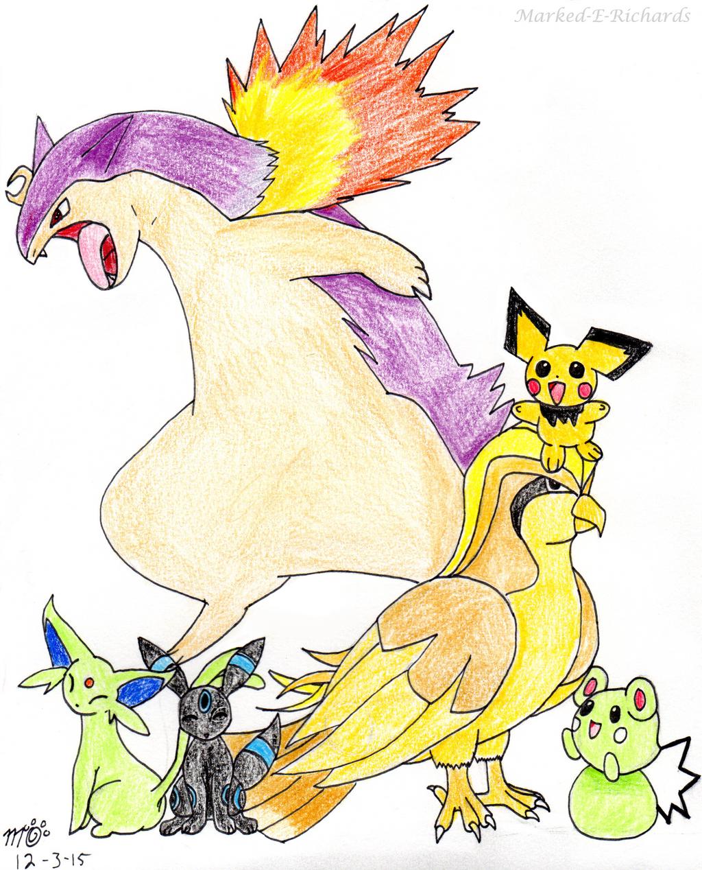 Commission: Pokemans!! by EmpatheticMortalAnge