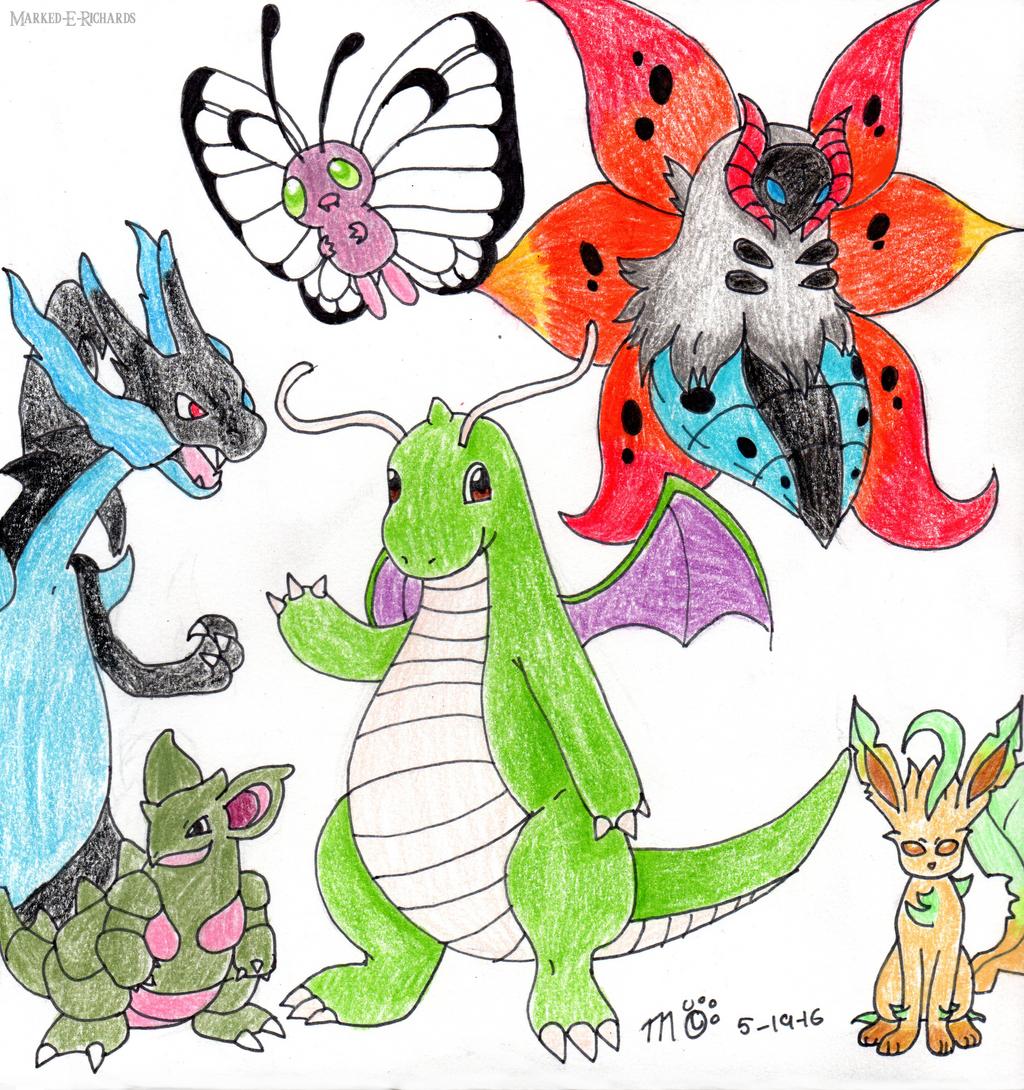 Commission: Even more pokemans. by EmpatheticMortalAnge