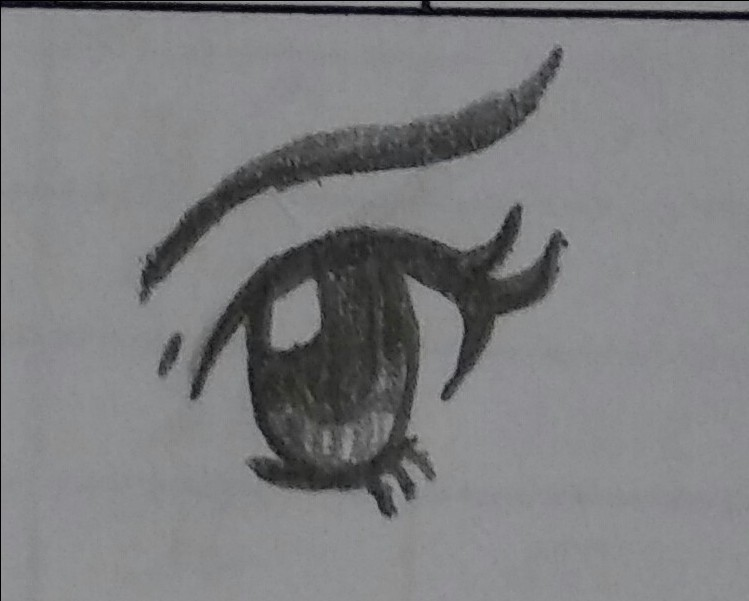 When bored at work but happeneds to have a pencil by EmpatheticMortalAnge