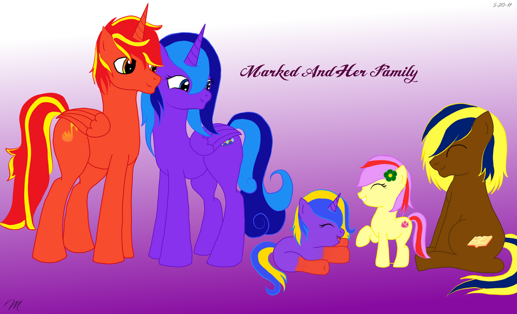 Pony Square family by EmpatheticMortalAnge