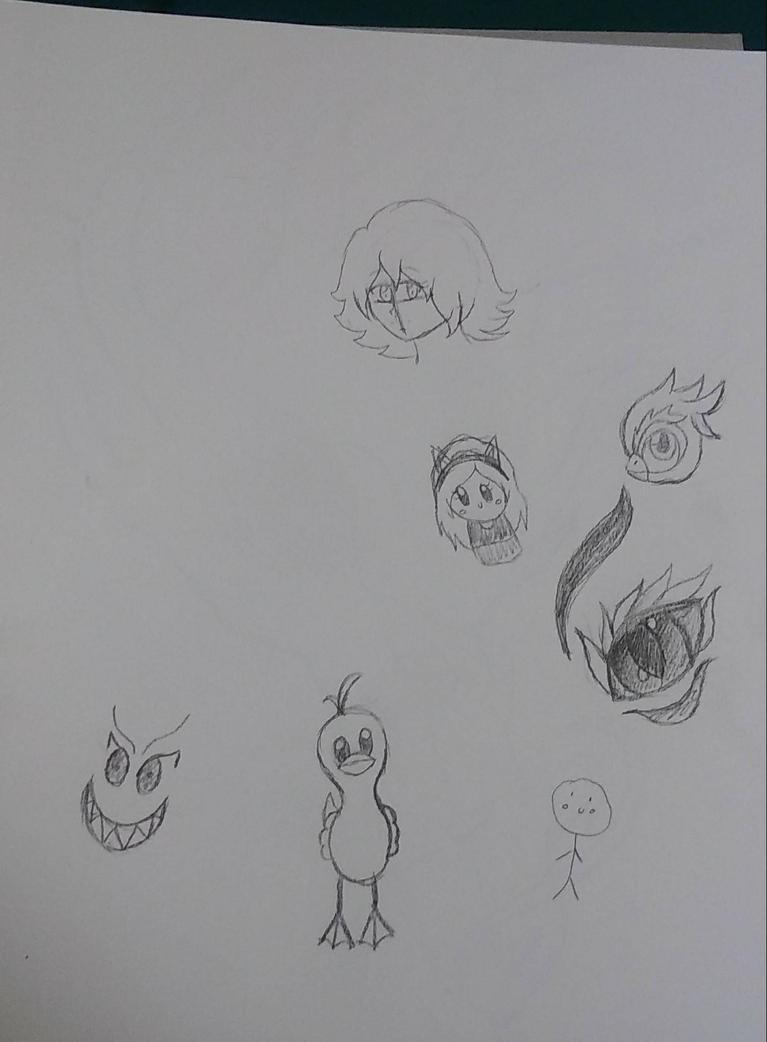 Random tired doodles.  by EmpatheticMortalAnge