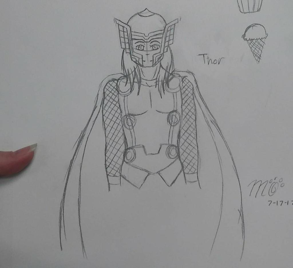 I drew Thor!  by EmpatheticMortalAnge
