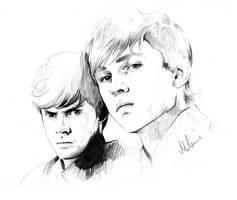 Narnia-The Pevensie Brothers1 by kleinmeli