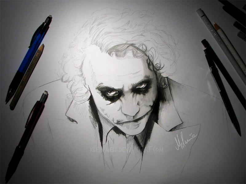 Joker Scribble Drawing : The joker wip by kleinmeli on deviantart