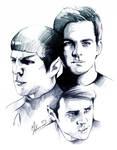 Star Trek - Kirk,Spock + Bones