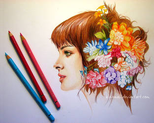 Flowergirl 3 by kleinmeli