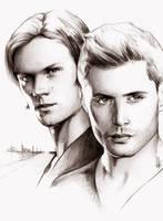 Sam and Dean by kleinmeli