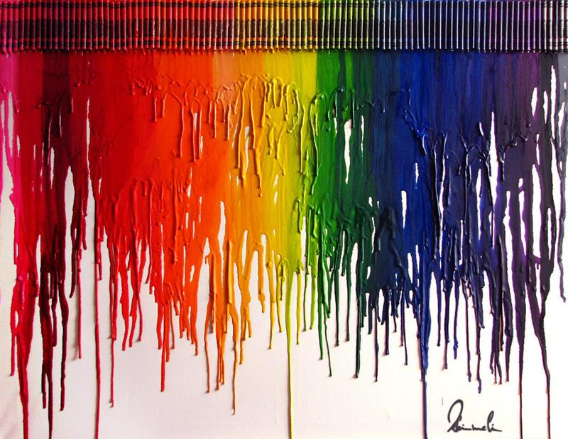 rainbow crayons by kleinmeli on deviantart