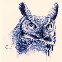Ballpoint Pen Owl by kleinmeli