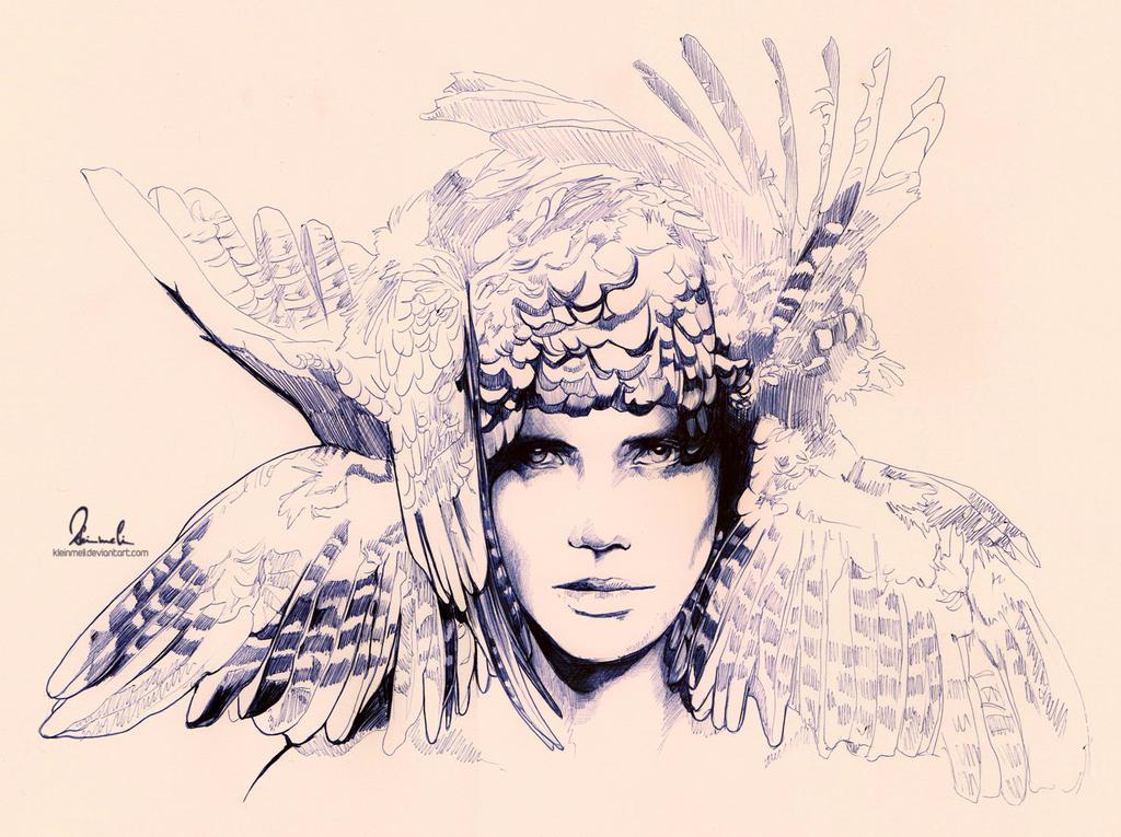 Ballpoint Pen Icarus - WIP2 by kleinmeli