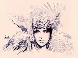 Ballpoint Pen Icarus - WIP2