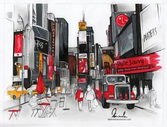 New York Times Square by kleinmeli