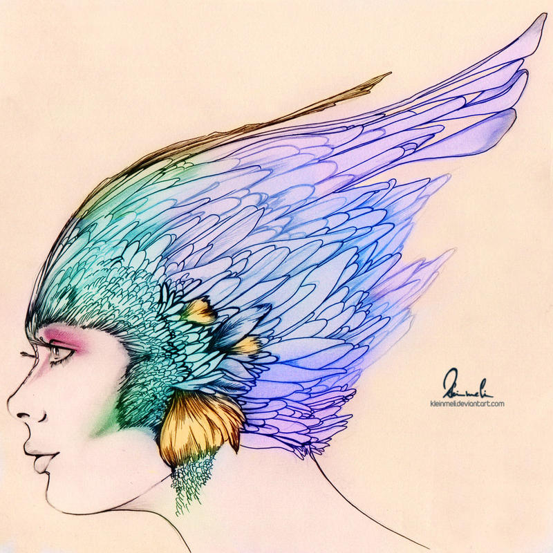 Colorful Featherhead by kleinmeli