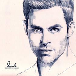 Chris Pine by kleinmeli
