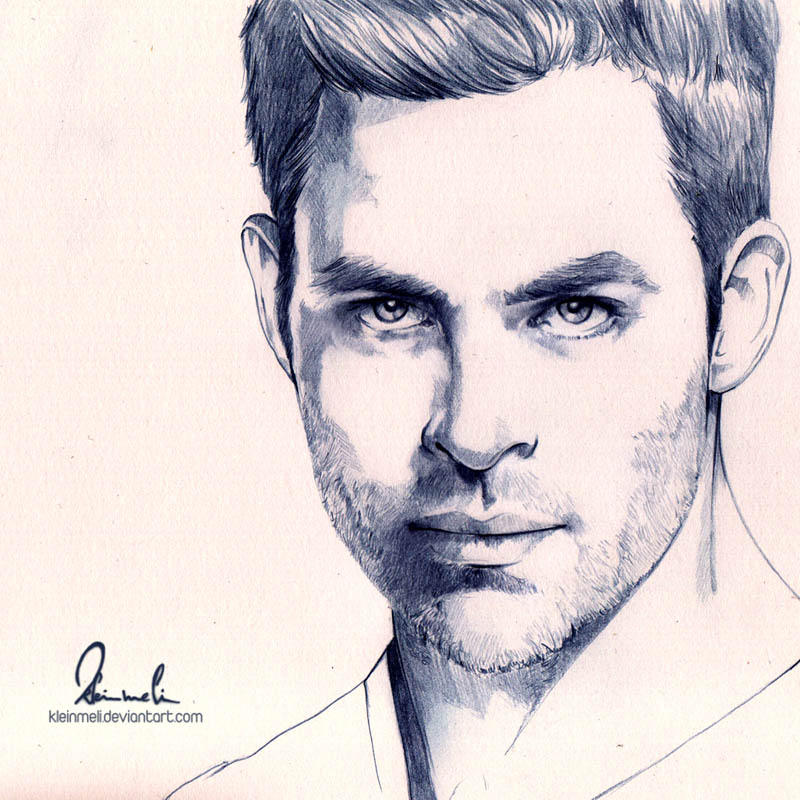 Chris Pine by kleinmeli