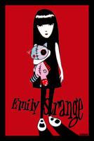 Emily Strange and Cat by kleinmeli