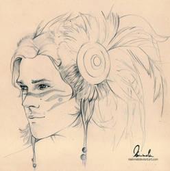 Warrior Sam Winchester by kleinmeli