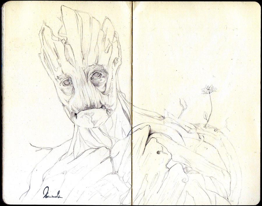 Groot Sketch by kleinmeli