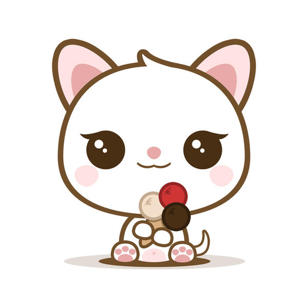 Mila - Yummy Kawaii Ice Cream - Cat by Listoric