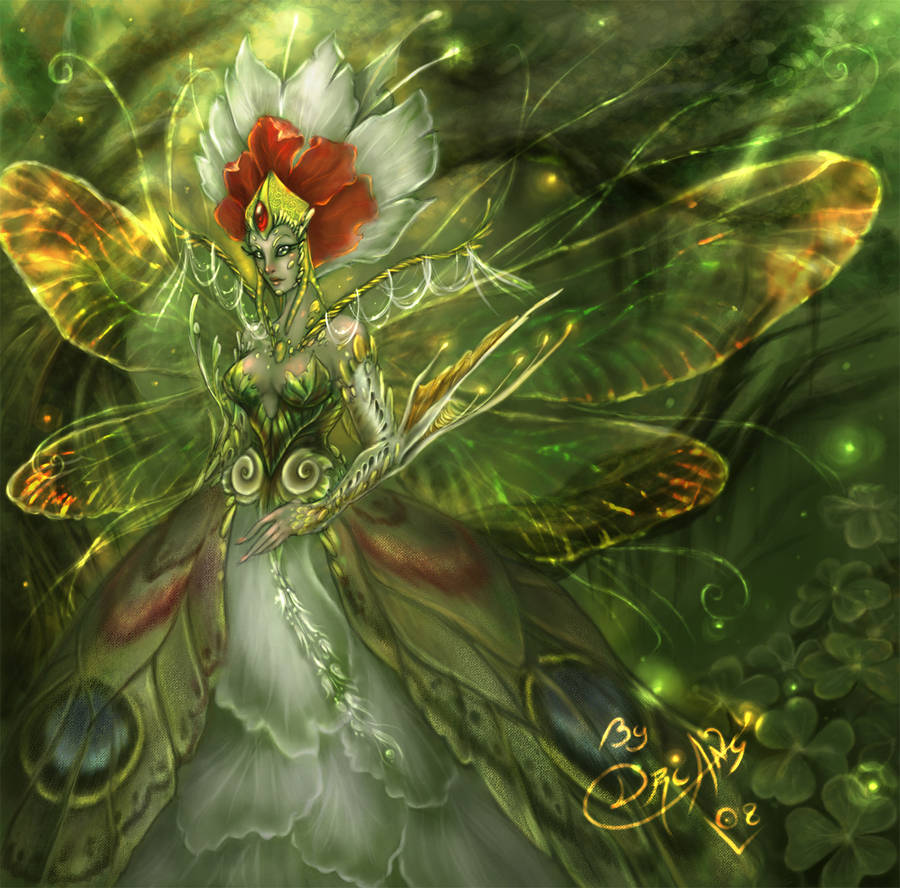 Finished Green Queen Faery