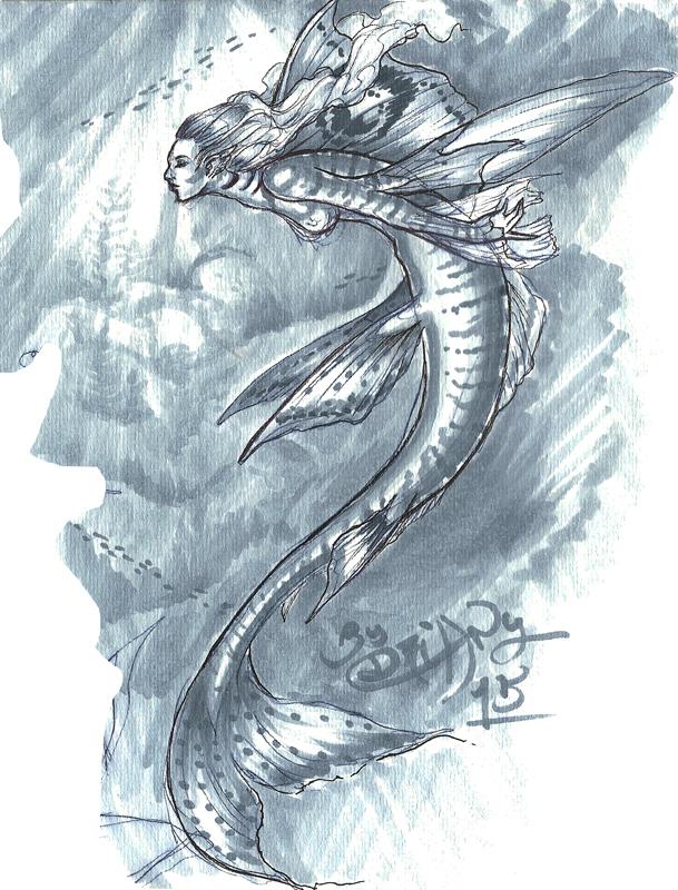 sketch mermaid test by driany