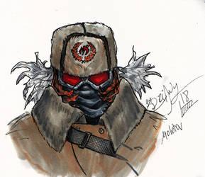 Inktober 15 2018 City of Mask: Molotov by driany