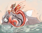 WIP: mermaid and fish 2