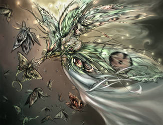 The Fairy of the Moth color by driany