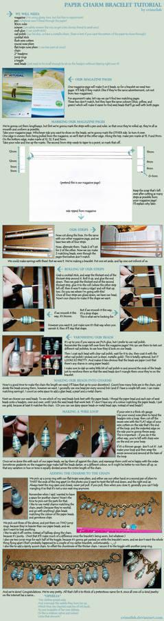 Paper Charm Bracelet Tutorial