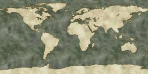 Fantasy themed Earth map 8k