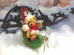 Little Santa bear by lovebiser