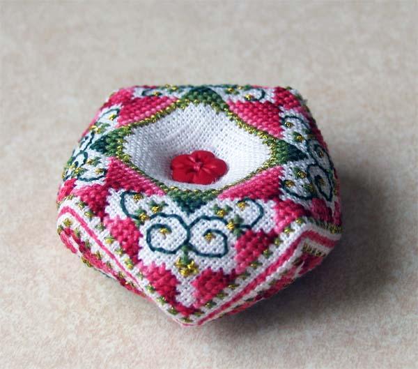 Strawberry Biscornu by lovebiser