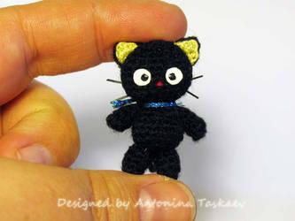 Crocheted  Choco cat by lovebiser