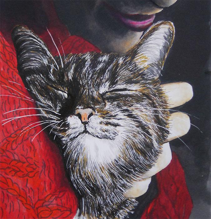 Cute cat by lovebiser