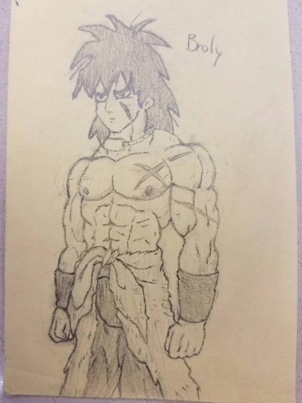 Broly doodle by Brickmaster1014