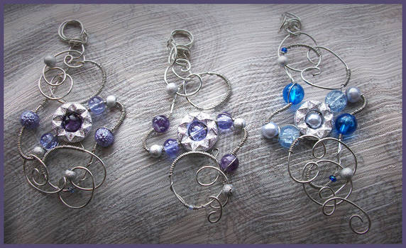 Galaxies Wire Wrapped Pendants