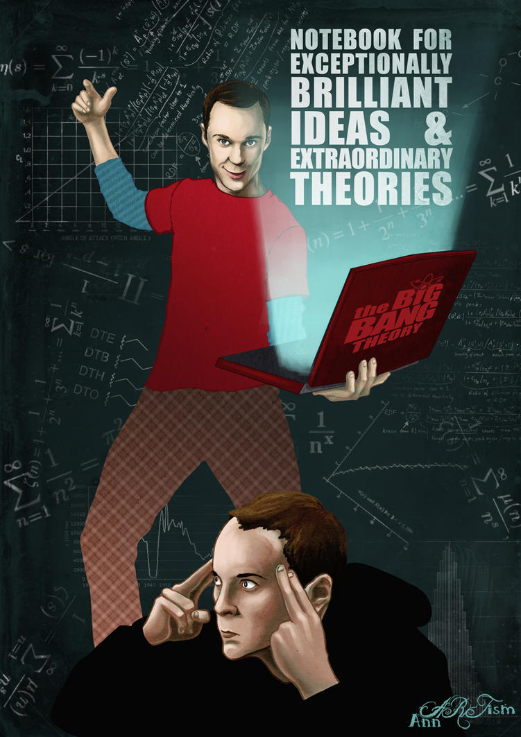 Sheldon notebook by annARTism
