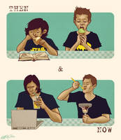 SPN ice cream - then and now by annARTism