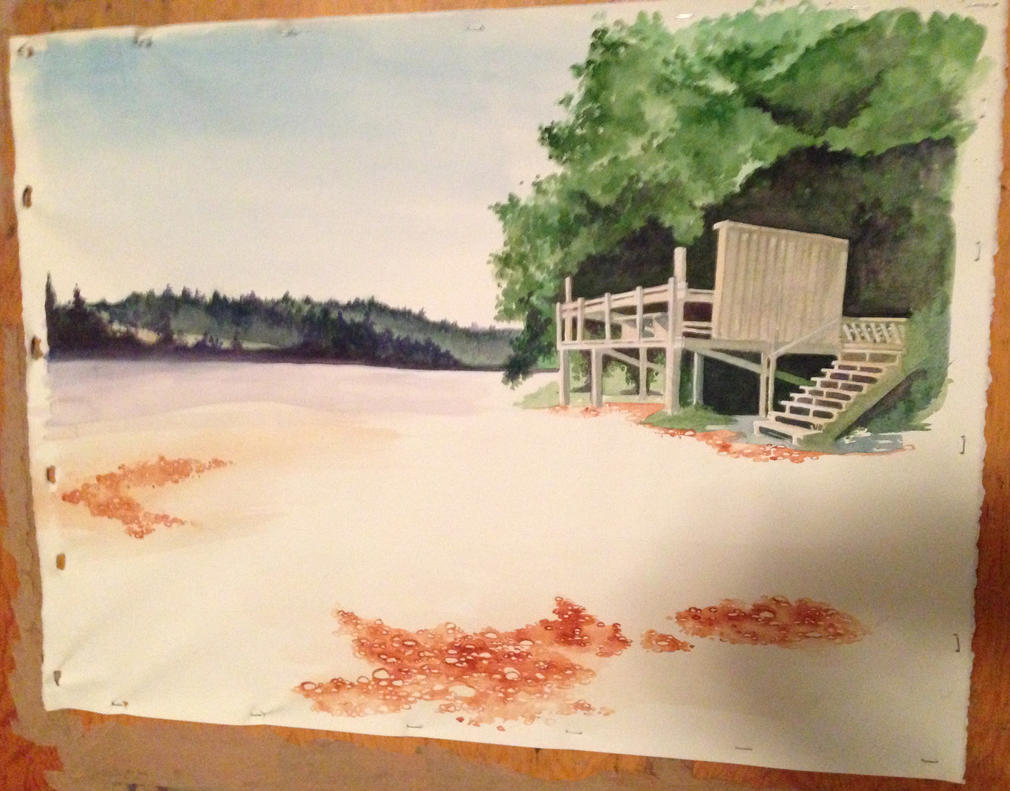 View of Fletcher Bay WIP 2 by fluffys-inu