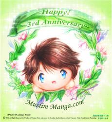 Happy Anniversary Muslim manga 2012 by Kauthar-Sharbini