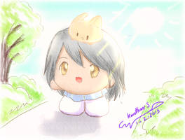 A bunny is behind Shishi
