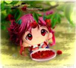 Cherry and Cherries under the cherries tree