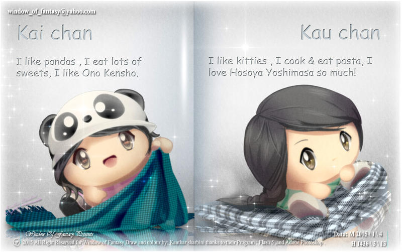 Panda Kai and Bombom Kau in magazine by Kauthar-Sharbini